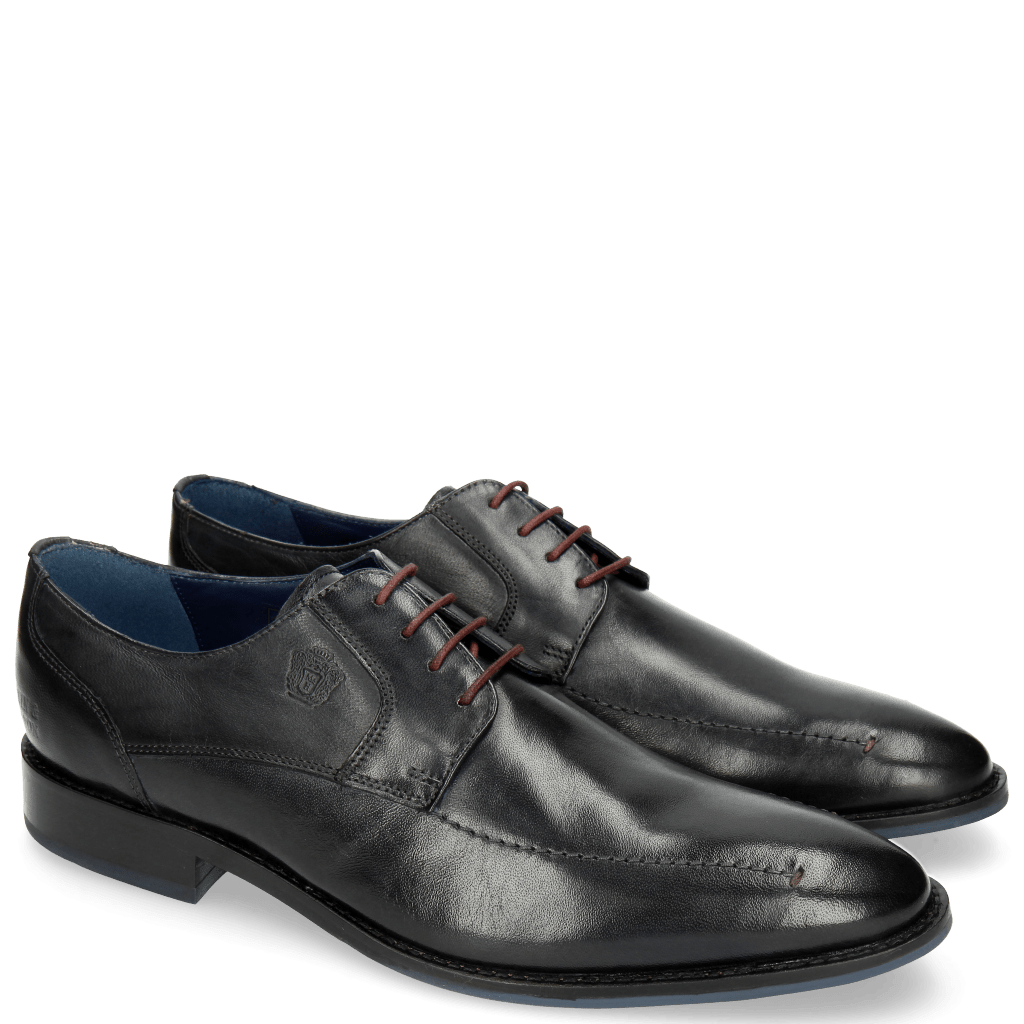 Derby Schuhe Victor 1 Rio Navy Red Laces