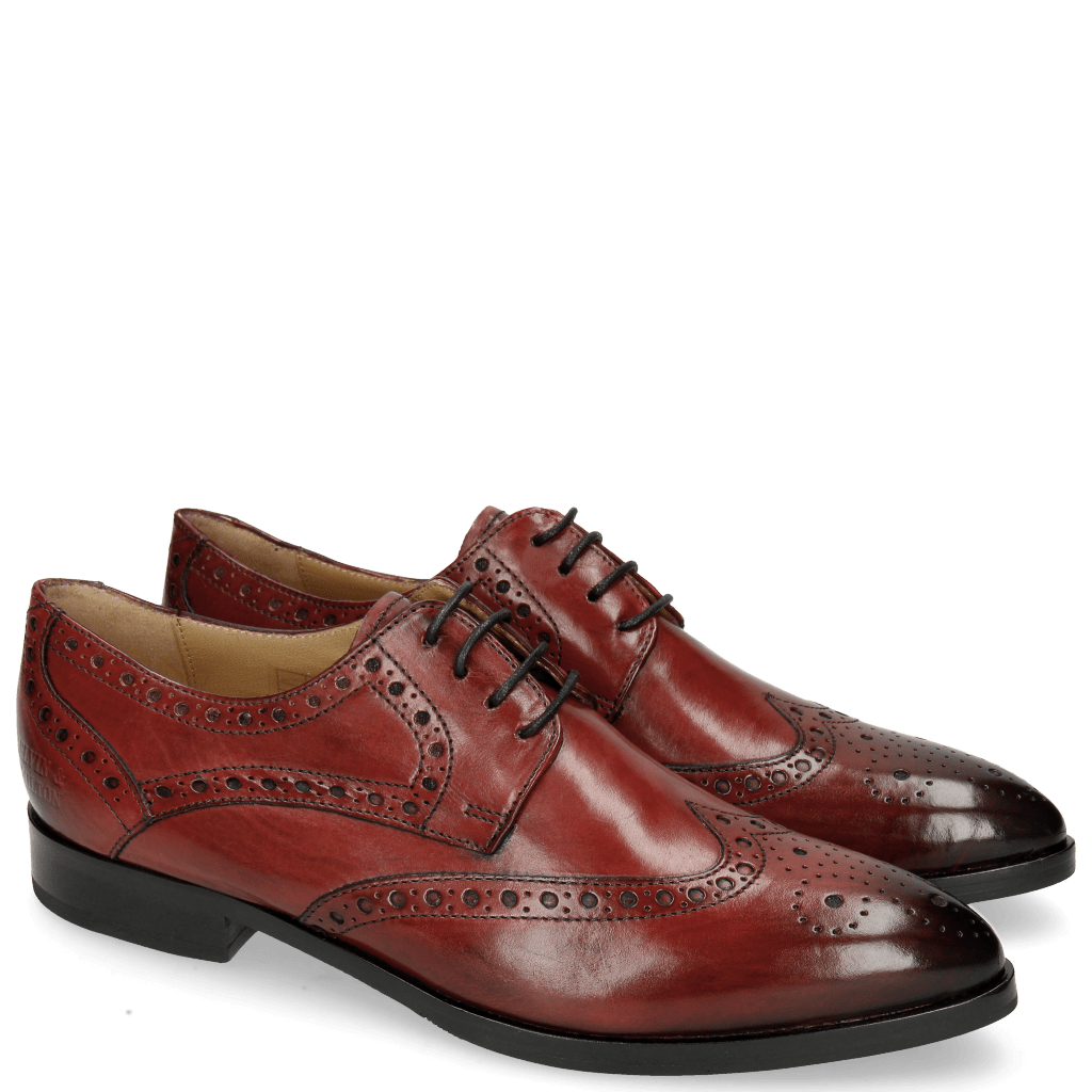 Derby Schuhe Jessy 6 Rio Red