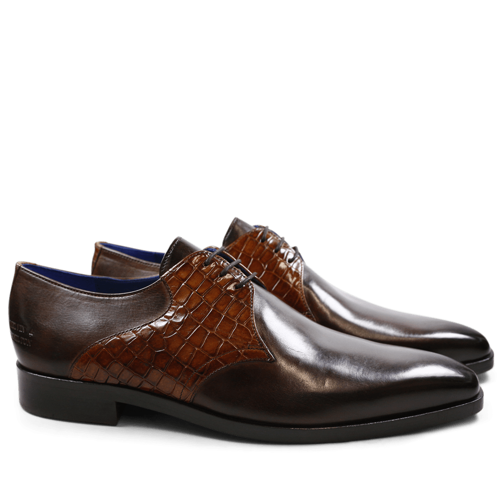 Derby Schuhe Lewis 29 Crust Rocco Dark Brown Tan LS Brown