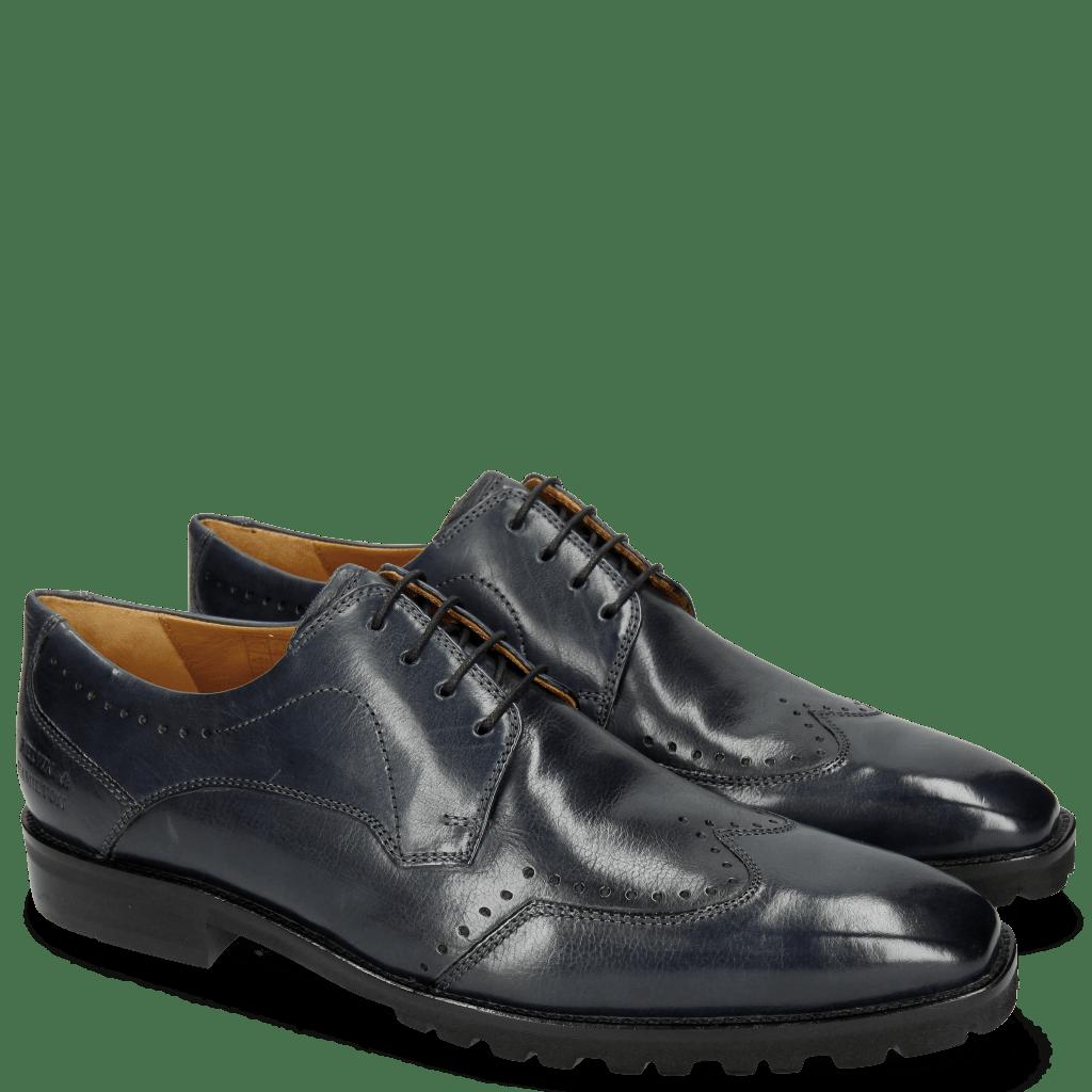 Derby Schuhe Emil 3 Carmen Navy Lining Foam