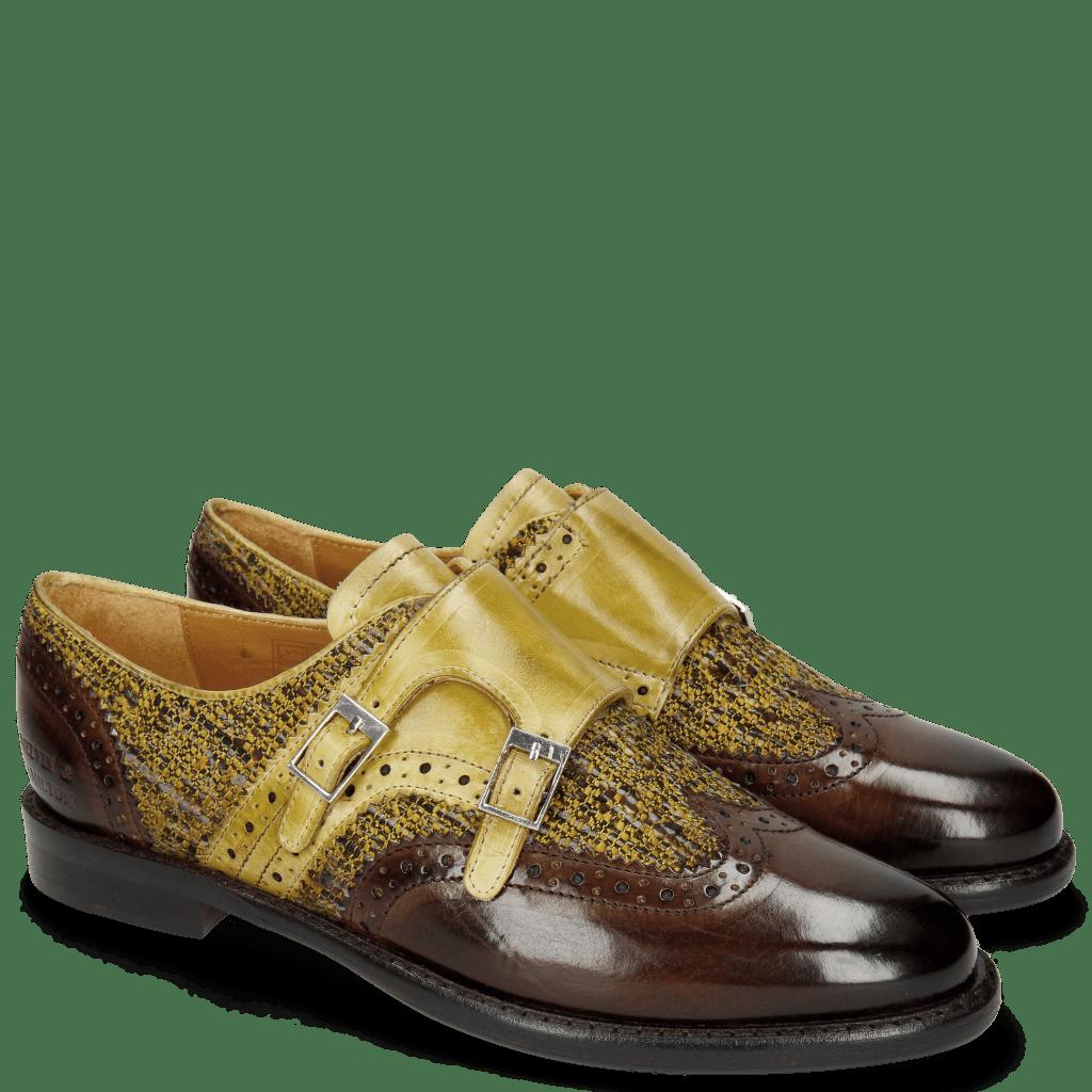Monk Schuhe Selina 1 Brown Cedro Tex Pixel Cedro