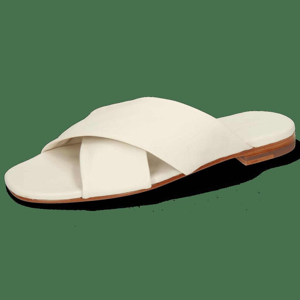 Pantoletten Elodie 47 Nappa Off White Lining Foam