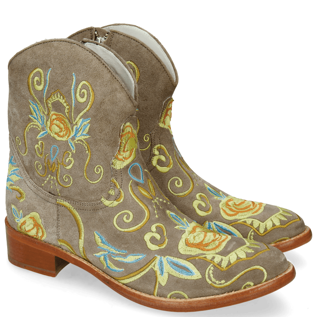 Stiefeletten Blanca 1 Lima French Grey Embroidery
