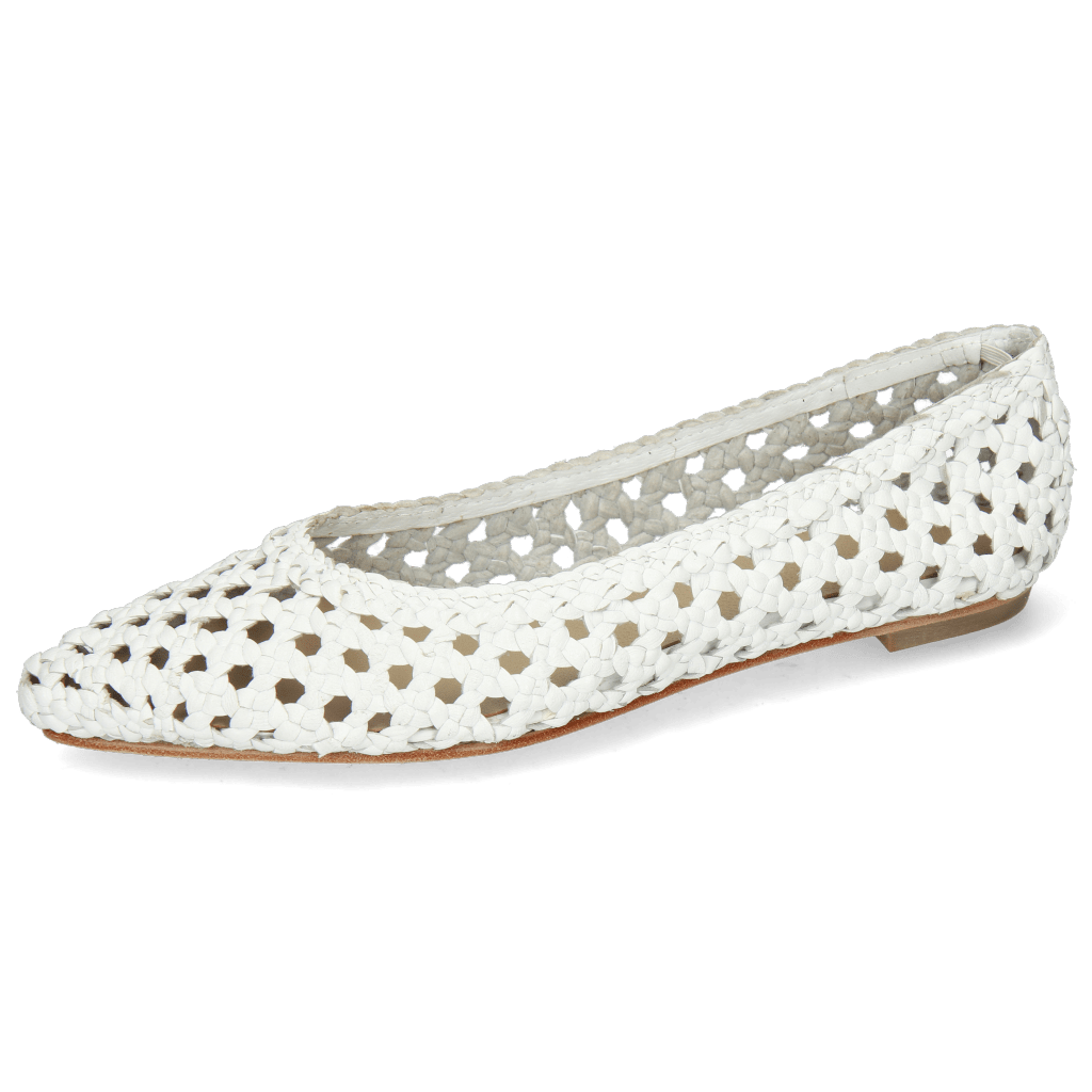 Ballerinas Alexa 16 Woven White