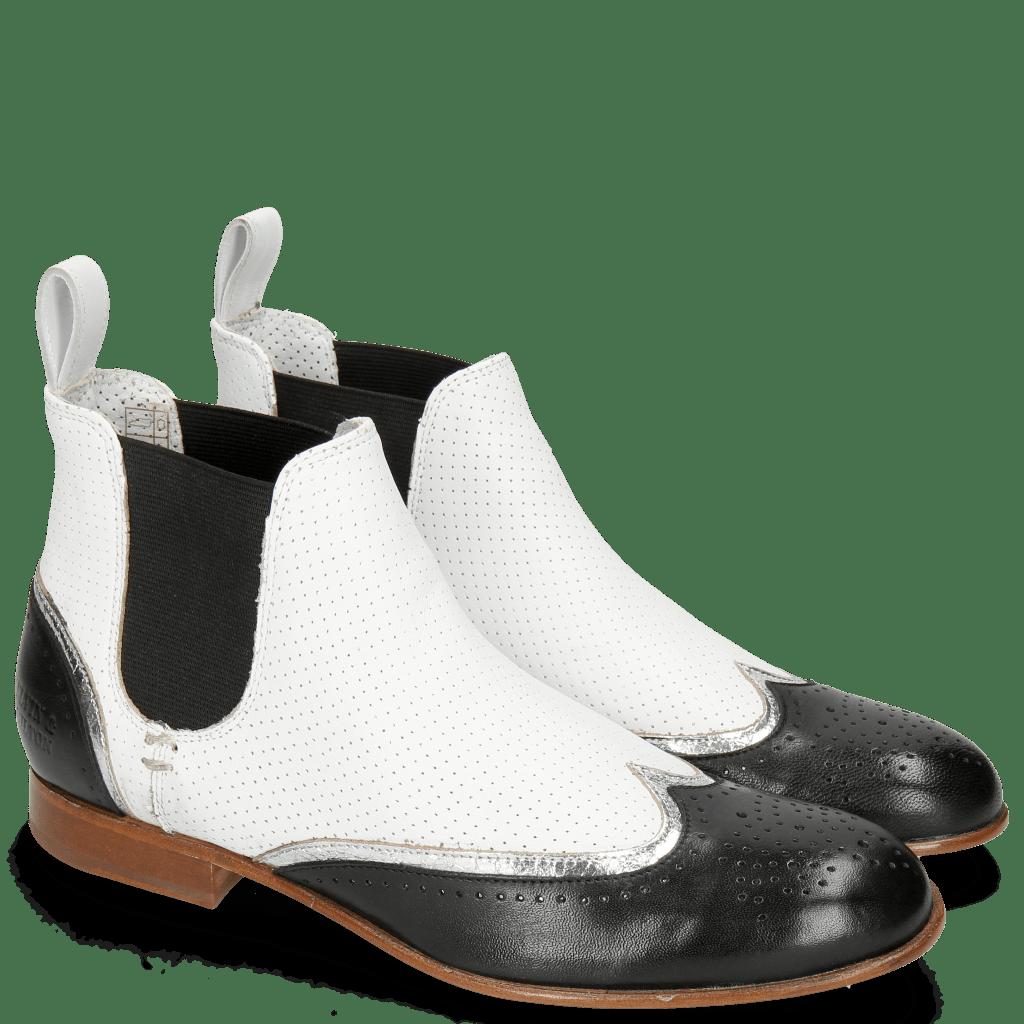 Stiefeletten Sally 19 Nappa Glove Black Cromia Nickel Nappa Perfo White