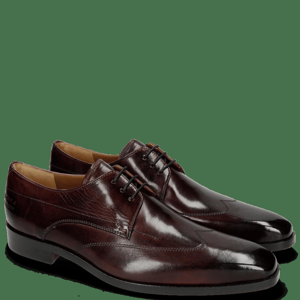Derby Schuhe Lewis 9 Bordo Lining Rich Tan