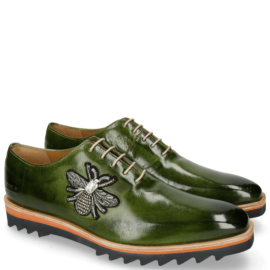 Oxford Schuhe Jeff 26 Ultra Green Patch Bee Stone