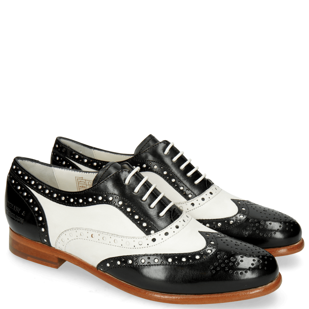 Oxford Schuhe Selina 30 Black Nappa White