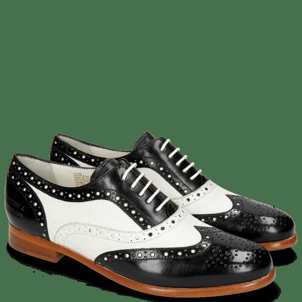 Oxford Schuhe Selina 30 Black Nappa White