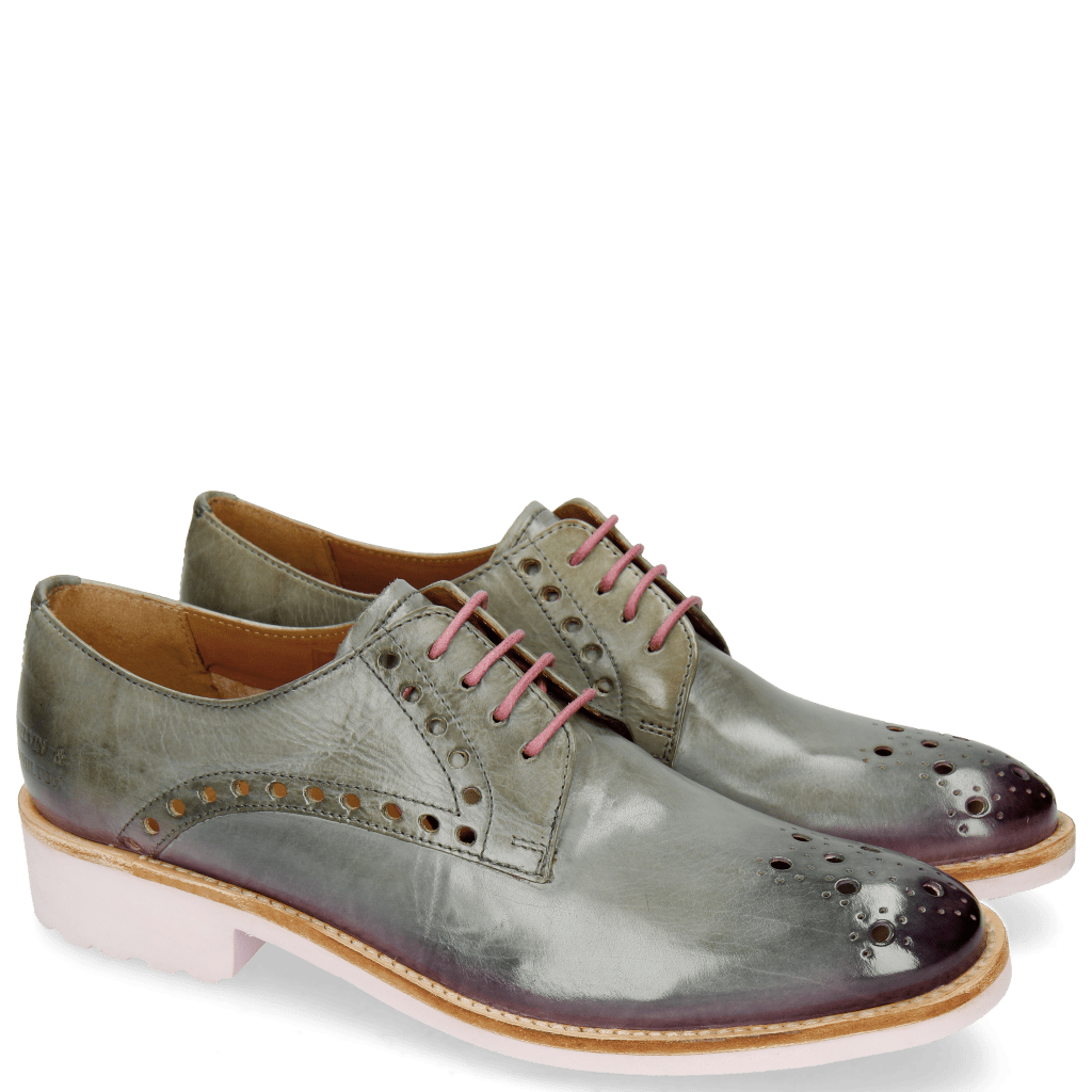 Derby Schuhe Amelie 7 Clear Water Shade Lilac