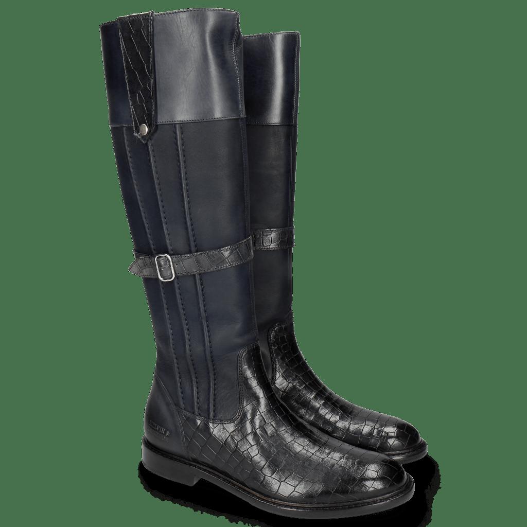 Stiefel Sally 86 Crock Talca Navy
