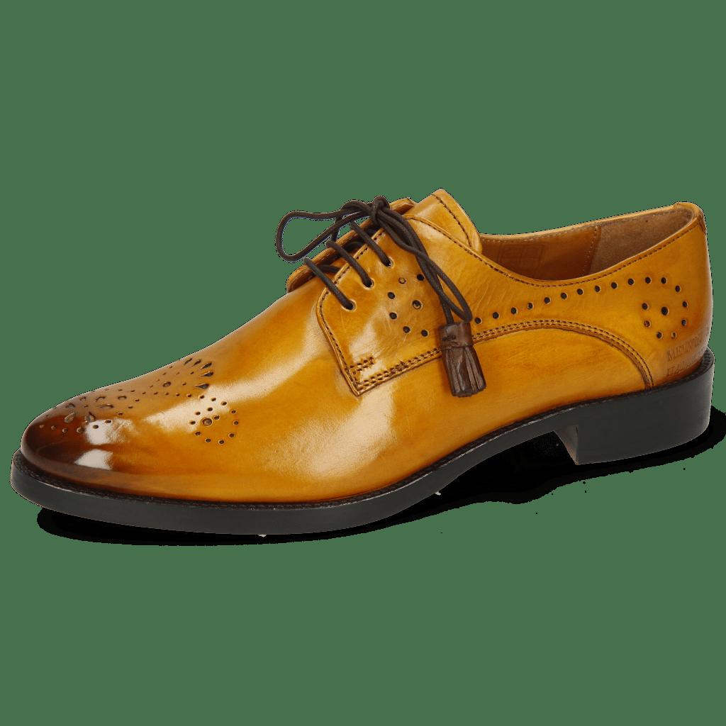 Derby Schuhe Betty 2 Indy Yellow Dark Finishing