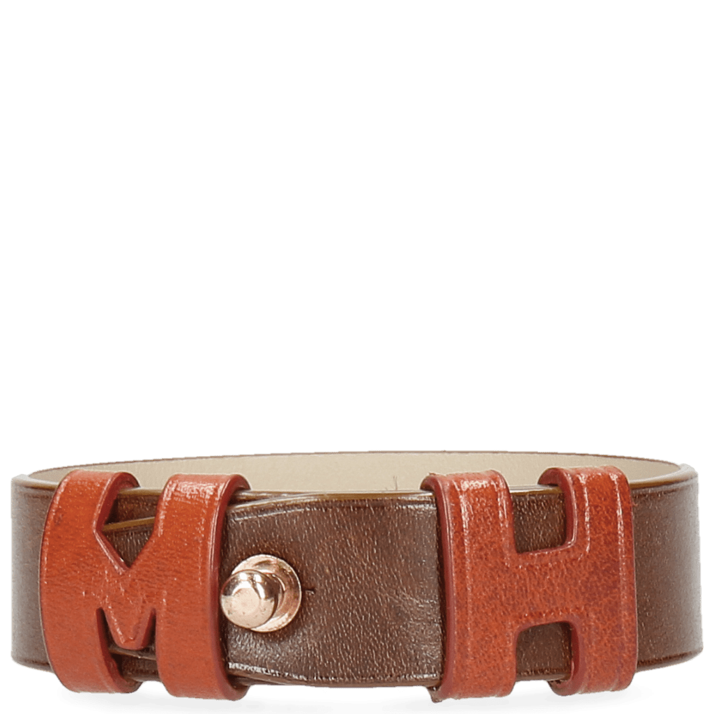 Armbänder Archie 1 Tan Loops Orange Studs Rose Gold