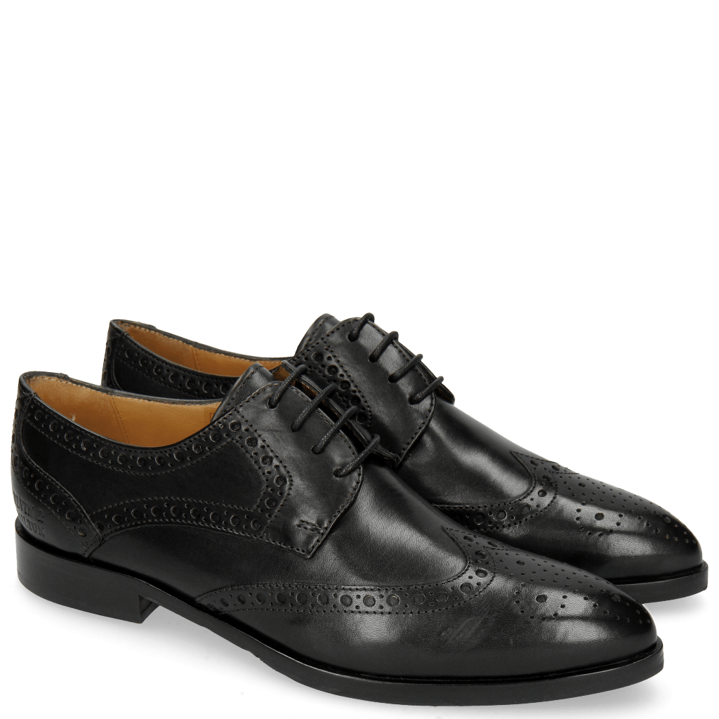 Derby Schuhe Jessy 6 Black Lining Rich Tan
