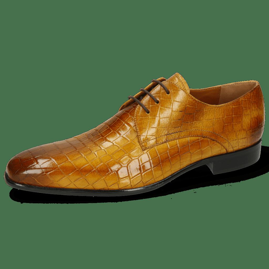 Derby Schuhe Lance 24 Crock Indy Yellow