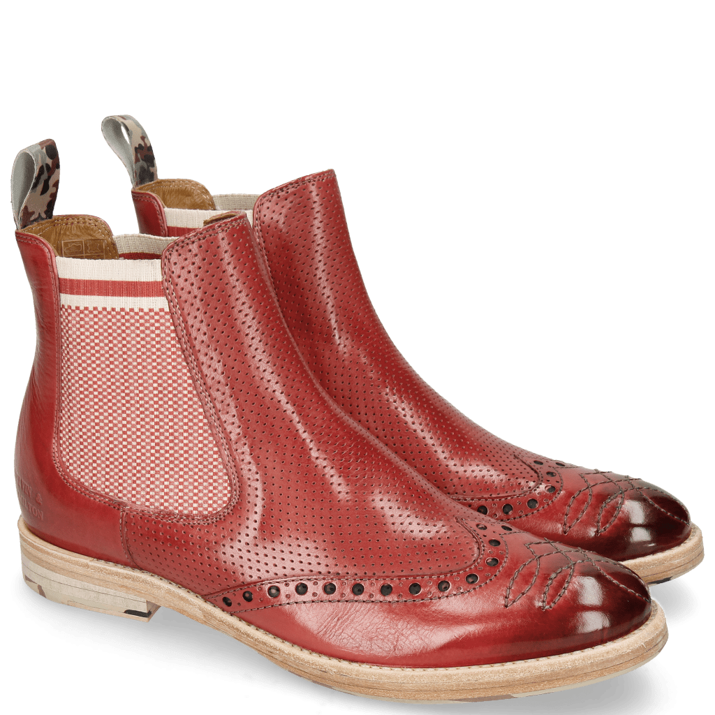 Stiefeletten Amelie 77 Rich Red Perfo Loop Camo