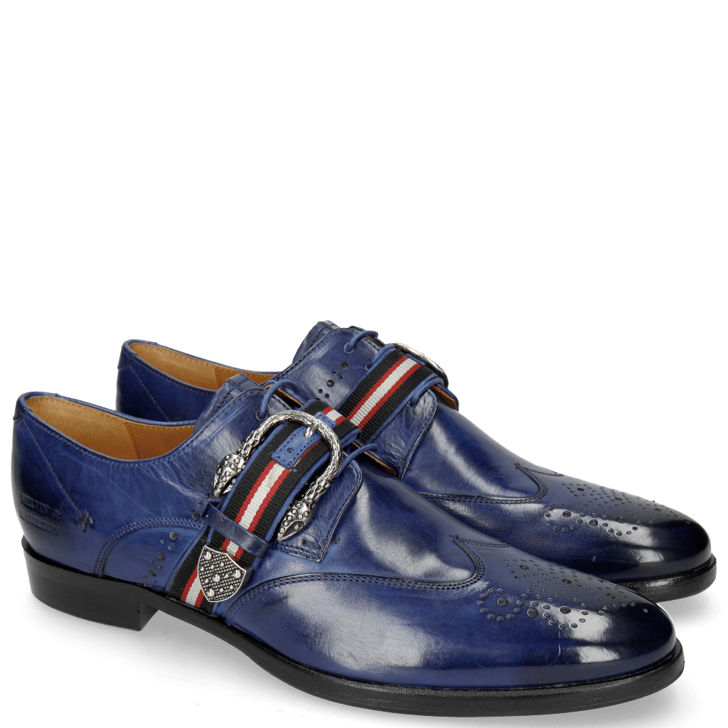 Derby Schuhe Clint 2 Midnight Blue Buckle