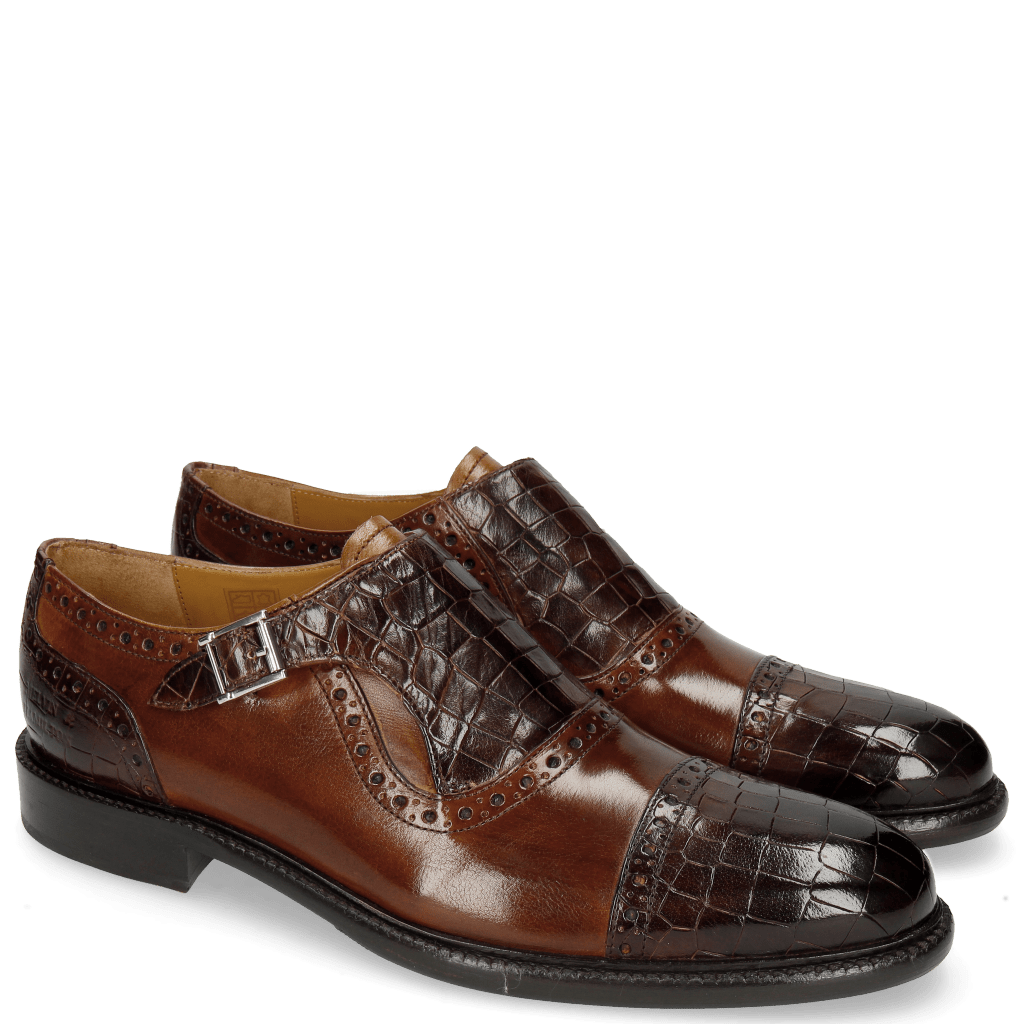 Monk Schuhe Henry 19 Crock Mid Brown Wood