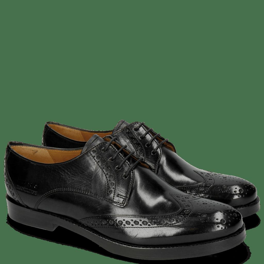 Derby Schuhe Amelie 3 Black HRS Thick Black