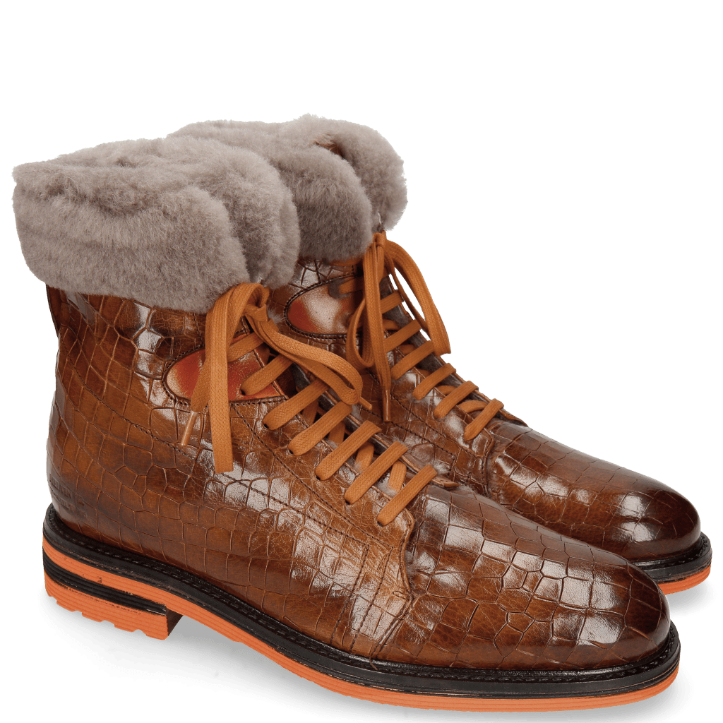 Stiefeletten Trevor 19 Crock Wood Winter Orange Short Fur Taupe