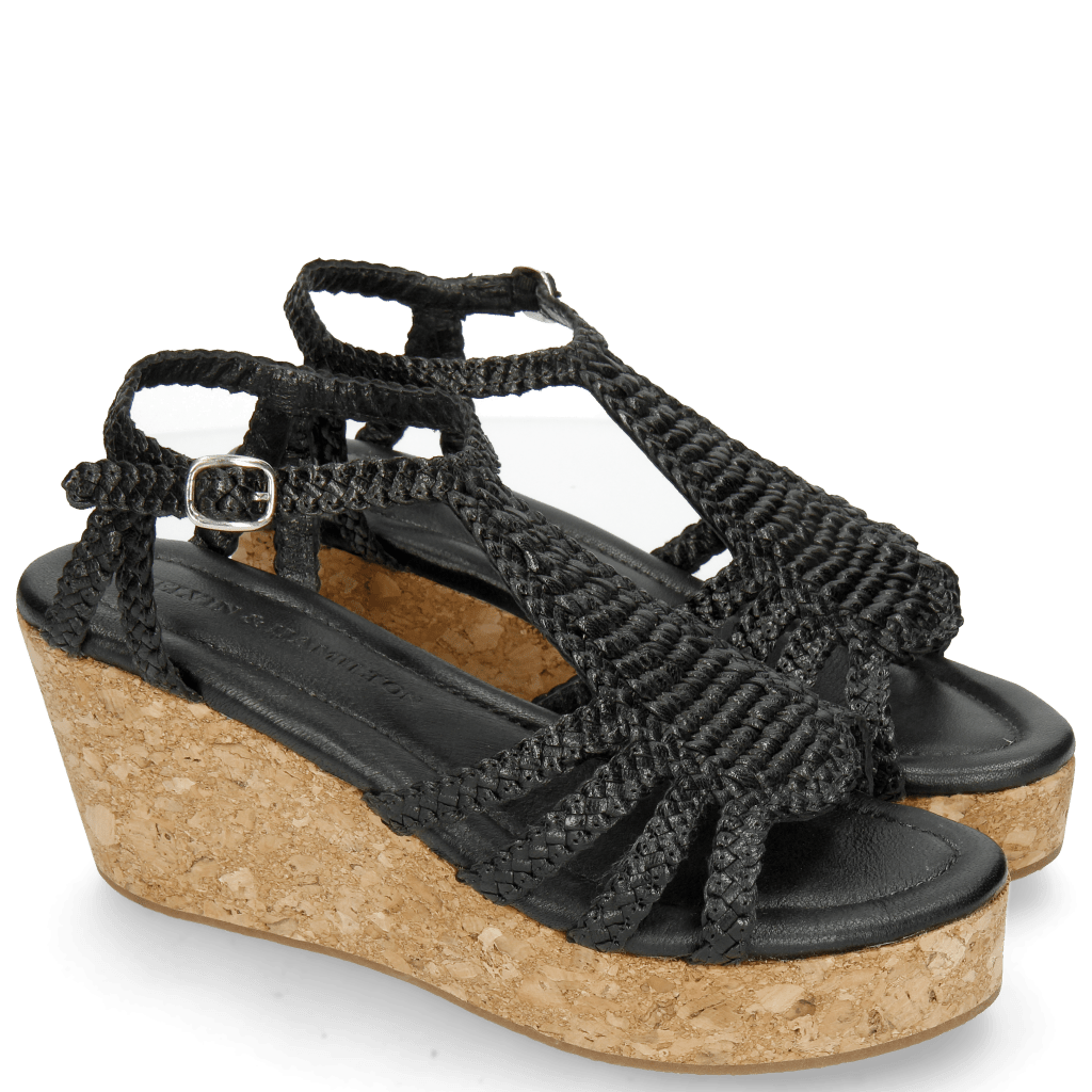 Sandalen Hanna 55 Woven Black Cork