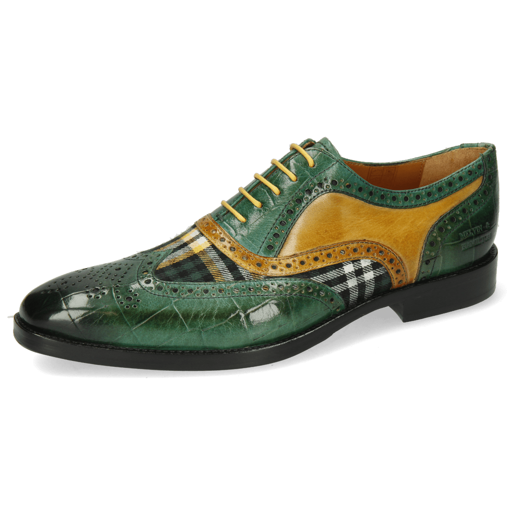 Oxford Schuhe Leonardo 21 Turtle Pine Tex Check Bosco Ocra
