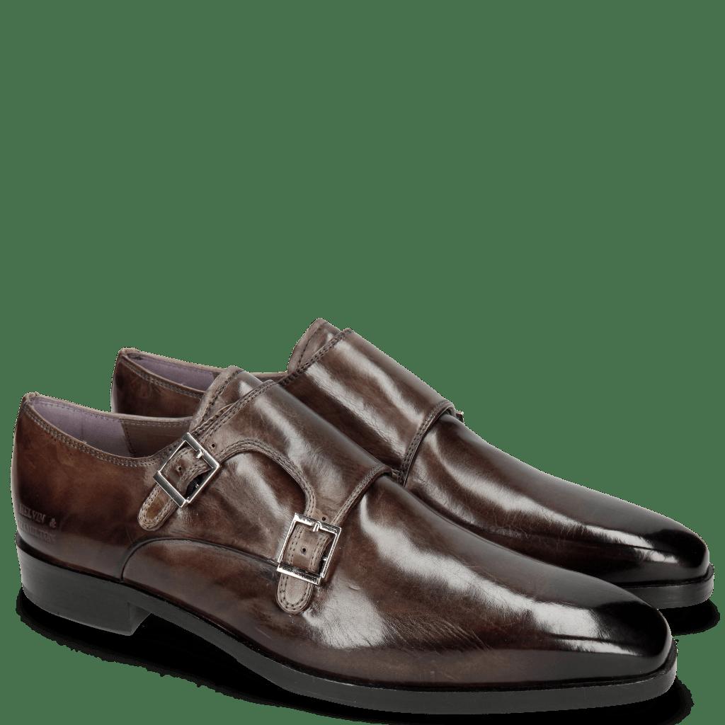 Monk Schuhe Lance 10 Stone HRS Navy