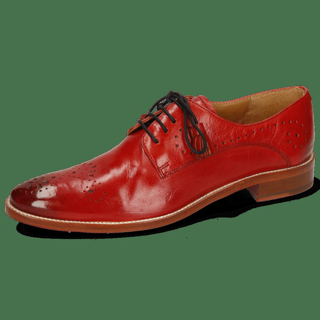 Derby Schuhe Betty 2 Pavia Fiesta Lining