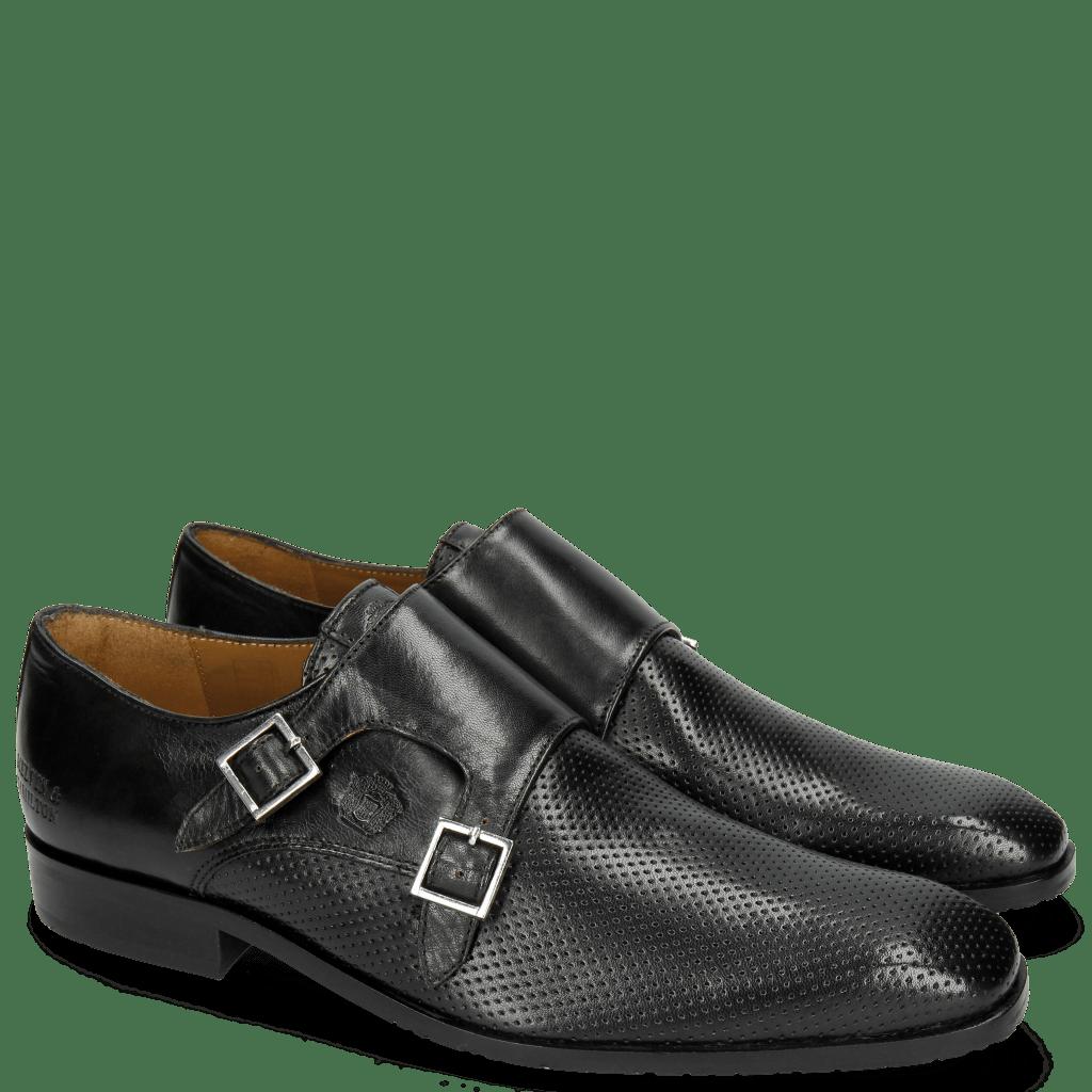 Monk Schuhe Rico 3 Rio Perfo Black