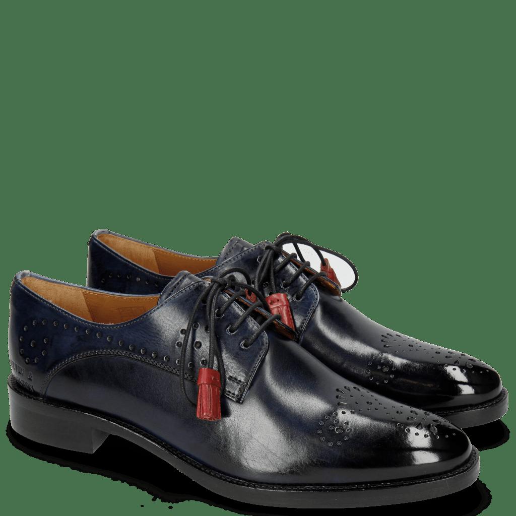 Derby Schuhe Betty 2 Marine Tassel Ruby