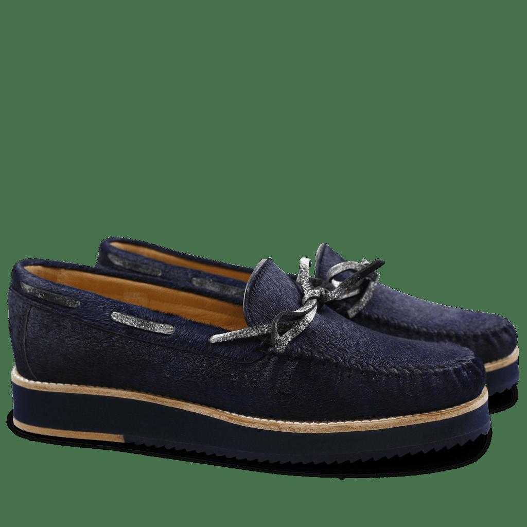 Loafers Bea 7 Blue Graphite Black