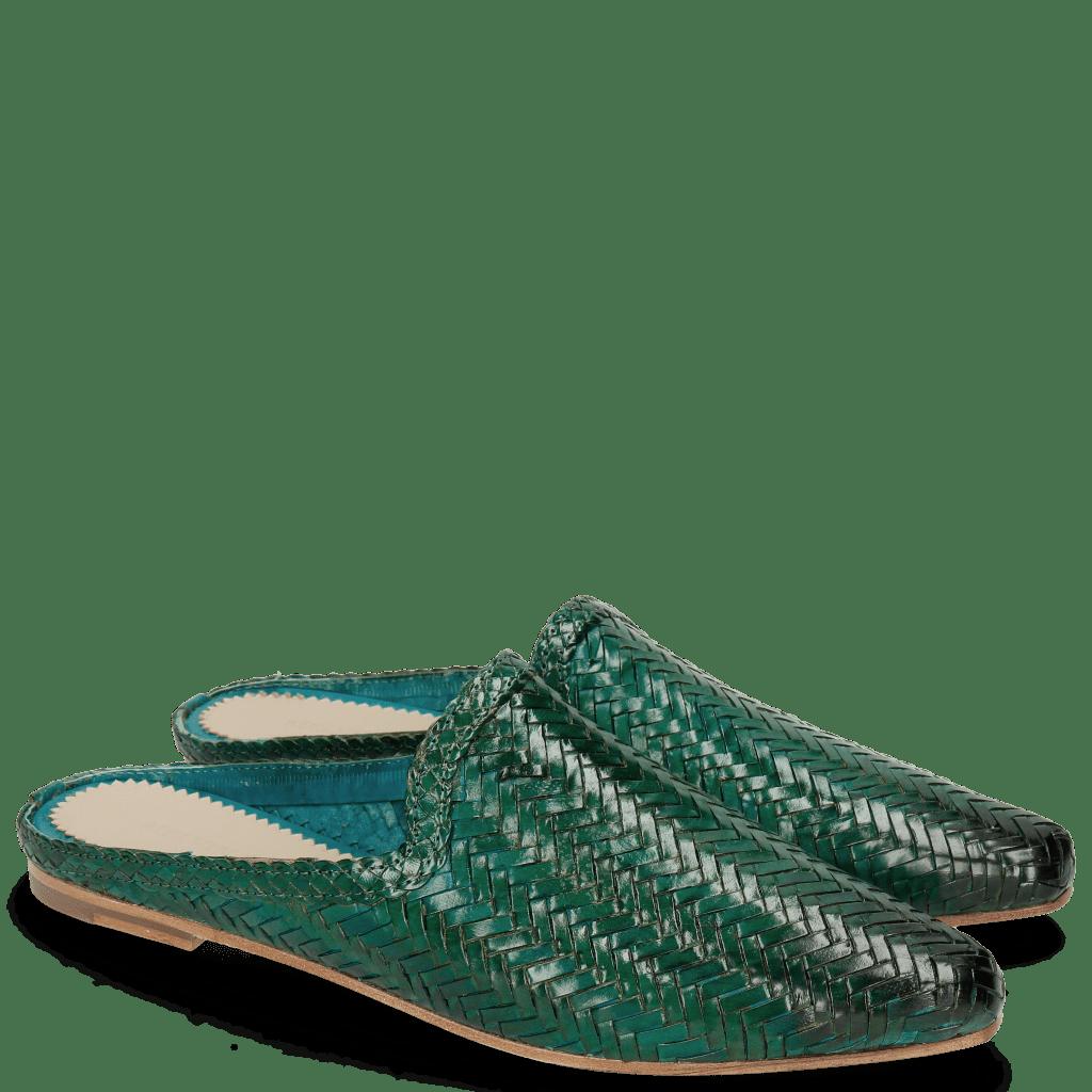 Pantoletten Joolie 17 Woven Haring Bone Tropical