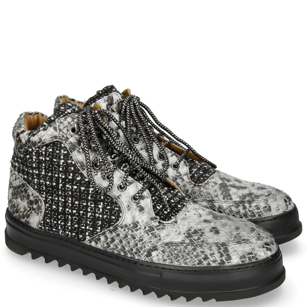Sneakers Max 1 Snake Tweed Black White