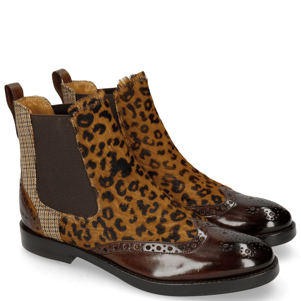 Stiefeletten Amelie 5 Mid Brown Hairon Leo Cappu Textile English