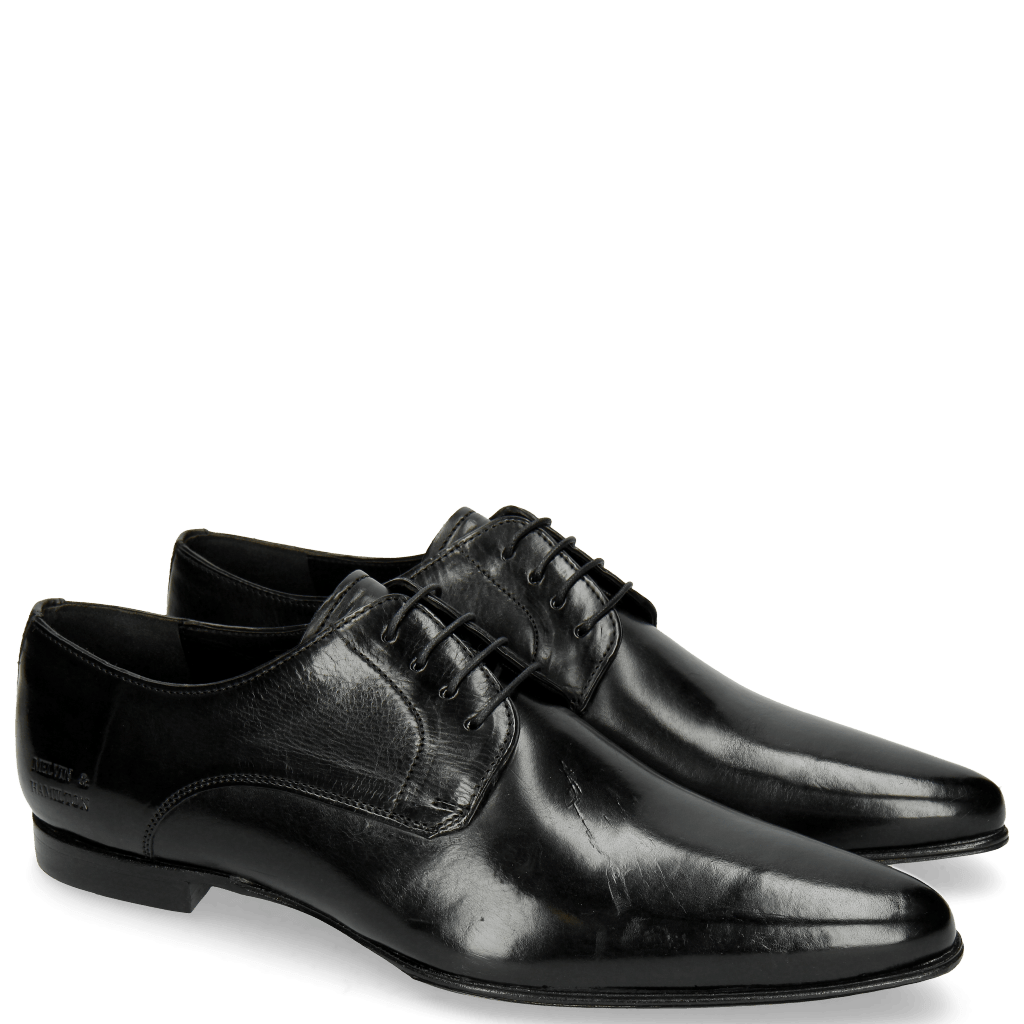 Derby Schuhe Sidney 1 Black LS Slim