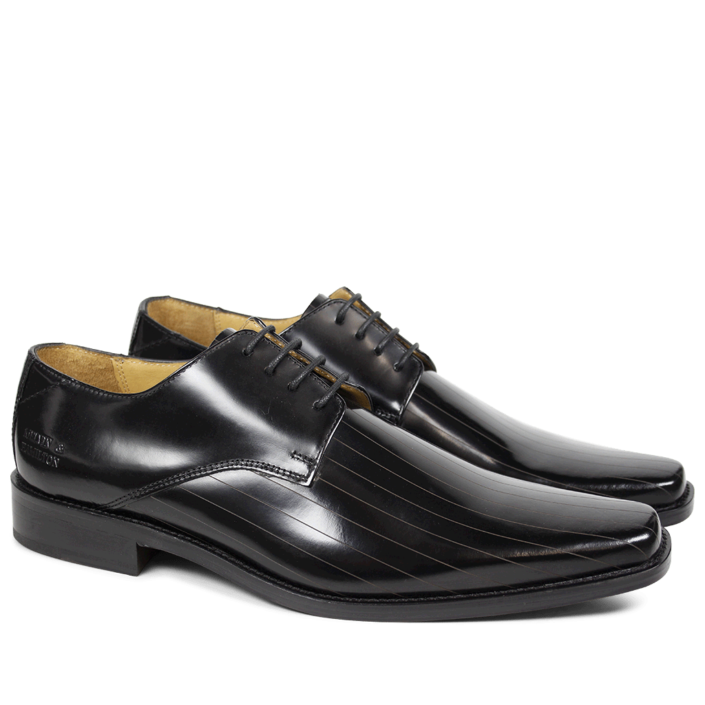 Derby Schuhe Frank 9 Brush Black LS