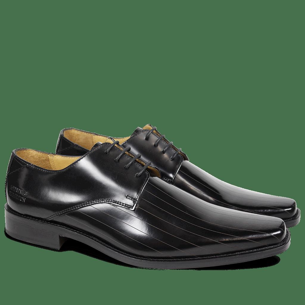 Derby Schuhe Frank 9 Brush Black LS