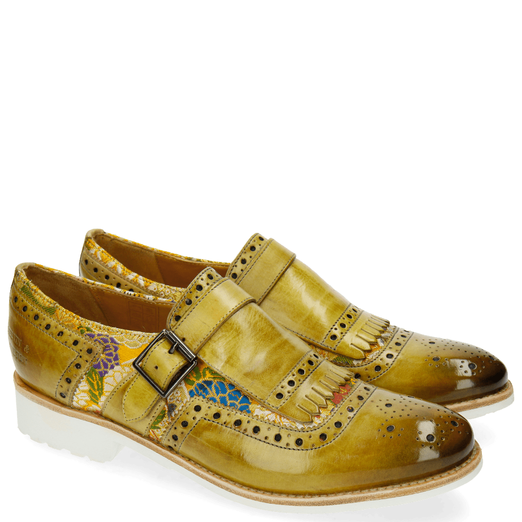 Monk Schuhe Amelie 42 Textile Glory Cedro Mandarine