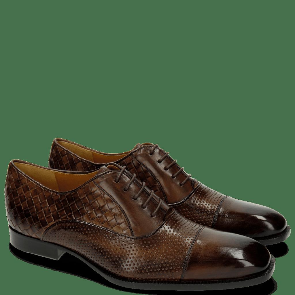 Oxford Schuhe Woody 9 Perfo Mesh Dark Brown