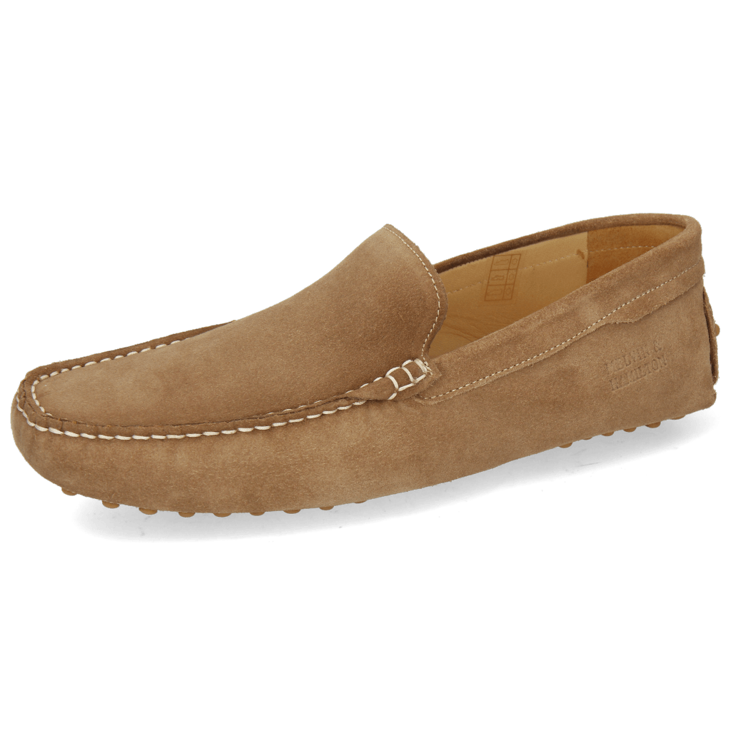 Loafers Nelson 1 Suede Pattini Cognac