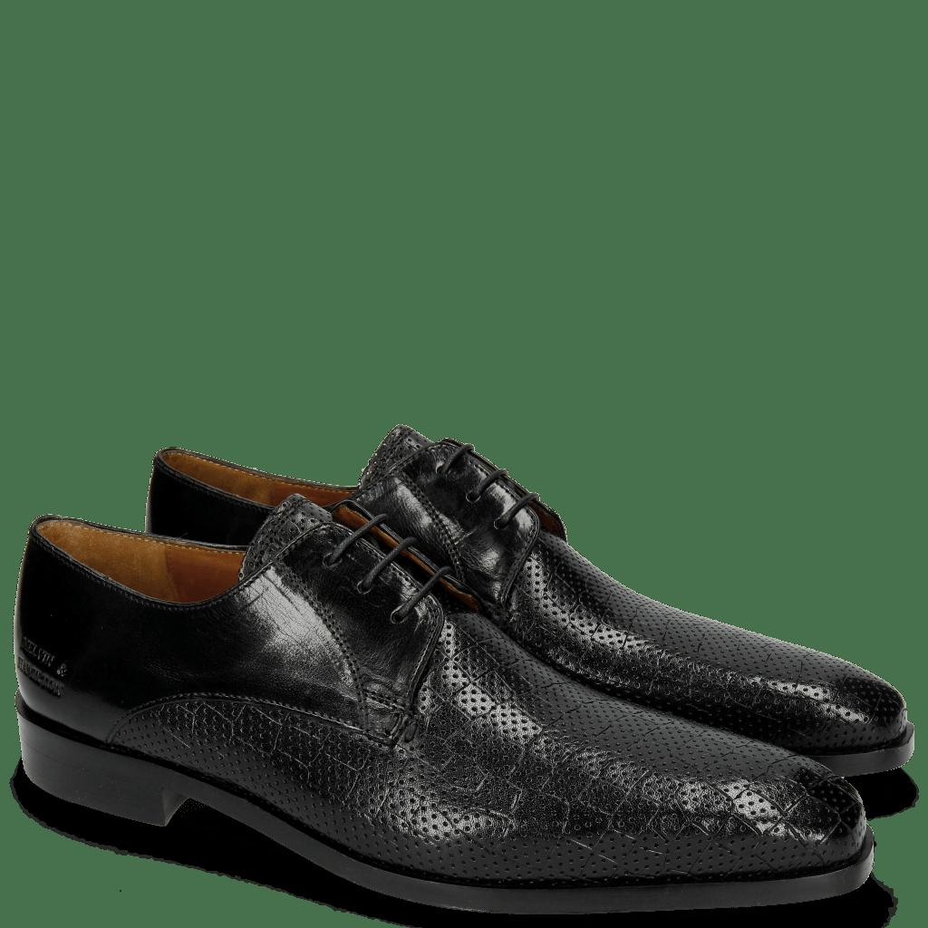 Derby Schuhe Lance 8 Crock Perfo Black