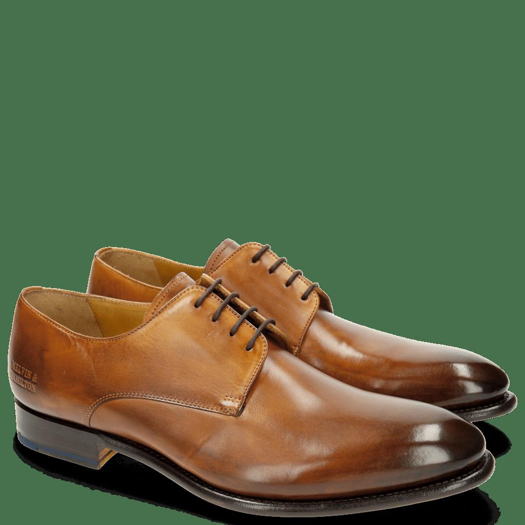 Derby Schuhe Lionel 3 Tan LS Brown