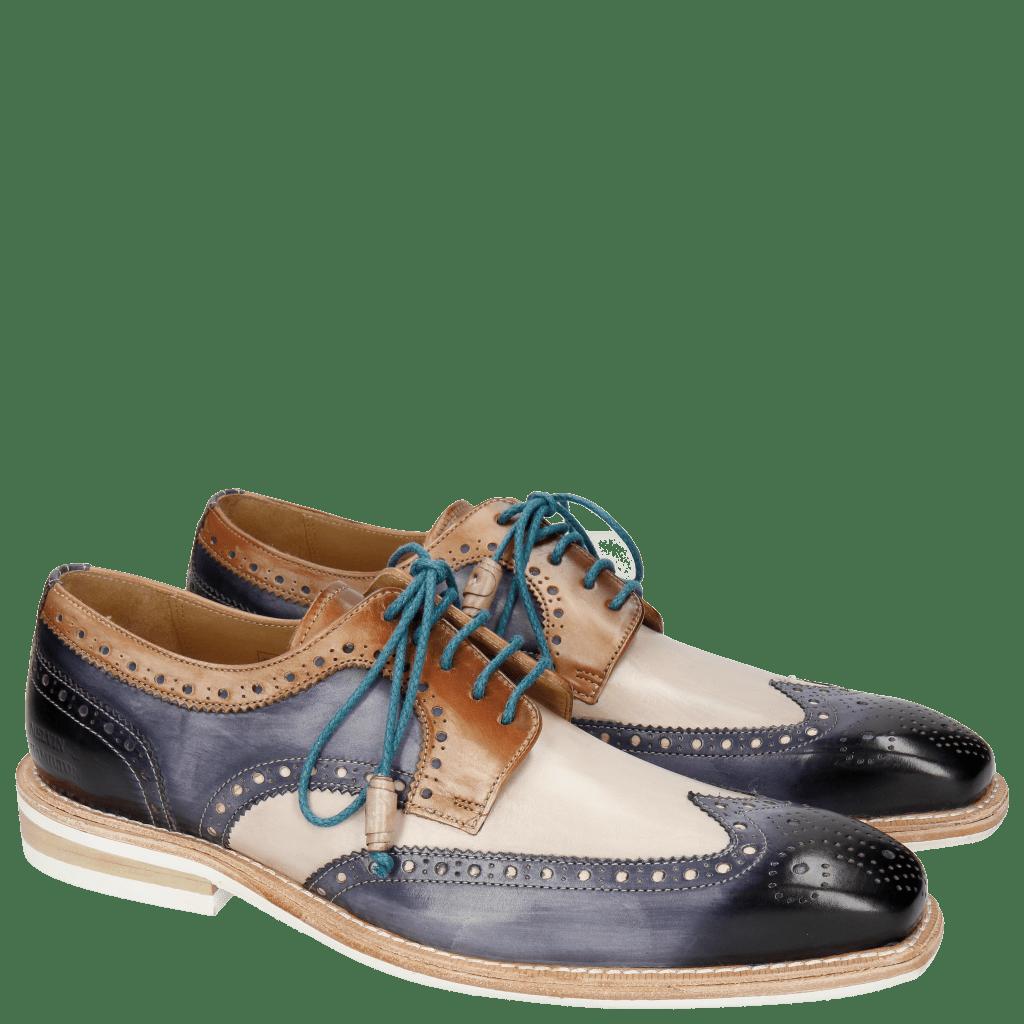 Derby Schuhe Marvin 1 Marine Blusher Corda