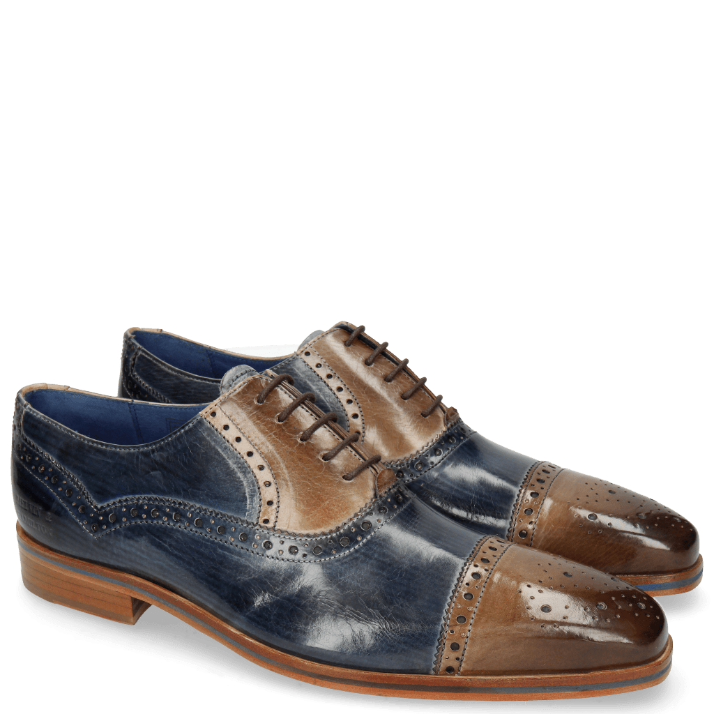 Oxford Schuhe Lewis 36 Moroccan Blue Oxygen Lines London Fog