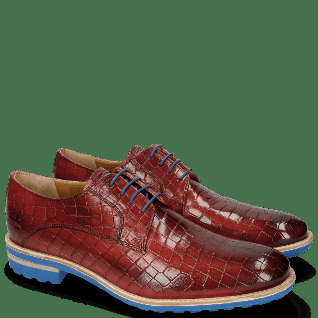 Derby Schuhe Eddy 8 Crock Ruby