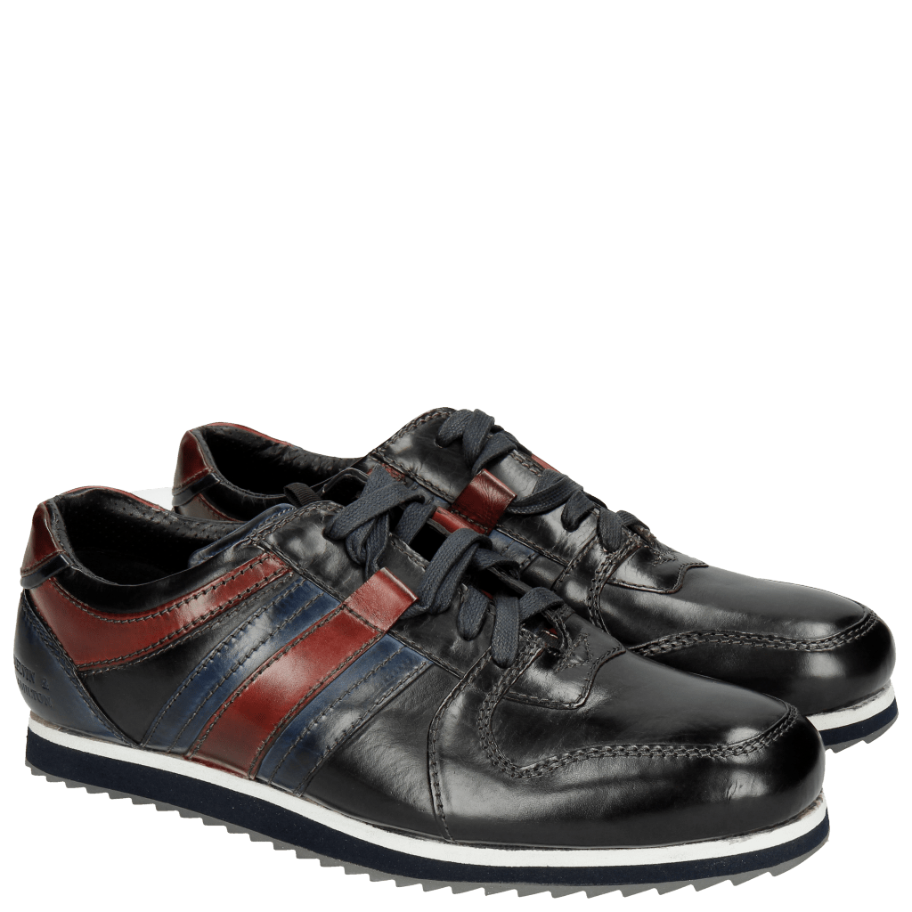 Sneakers Niven 5 Black Mid Blue Red