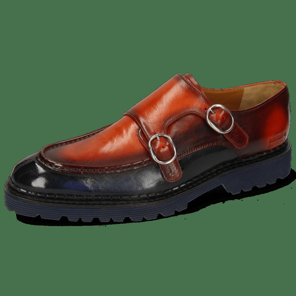 Monk Schuhe Patrick 30 Imola Navy Winter Orange
