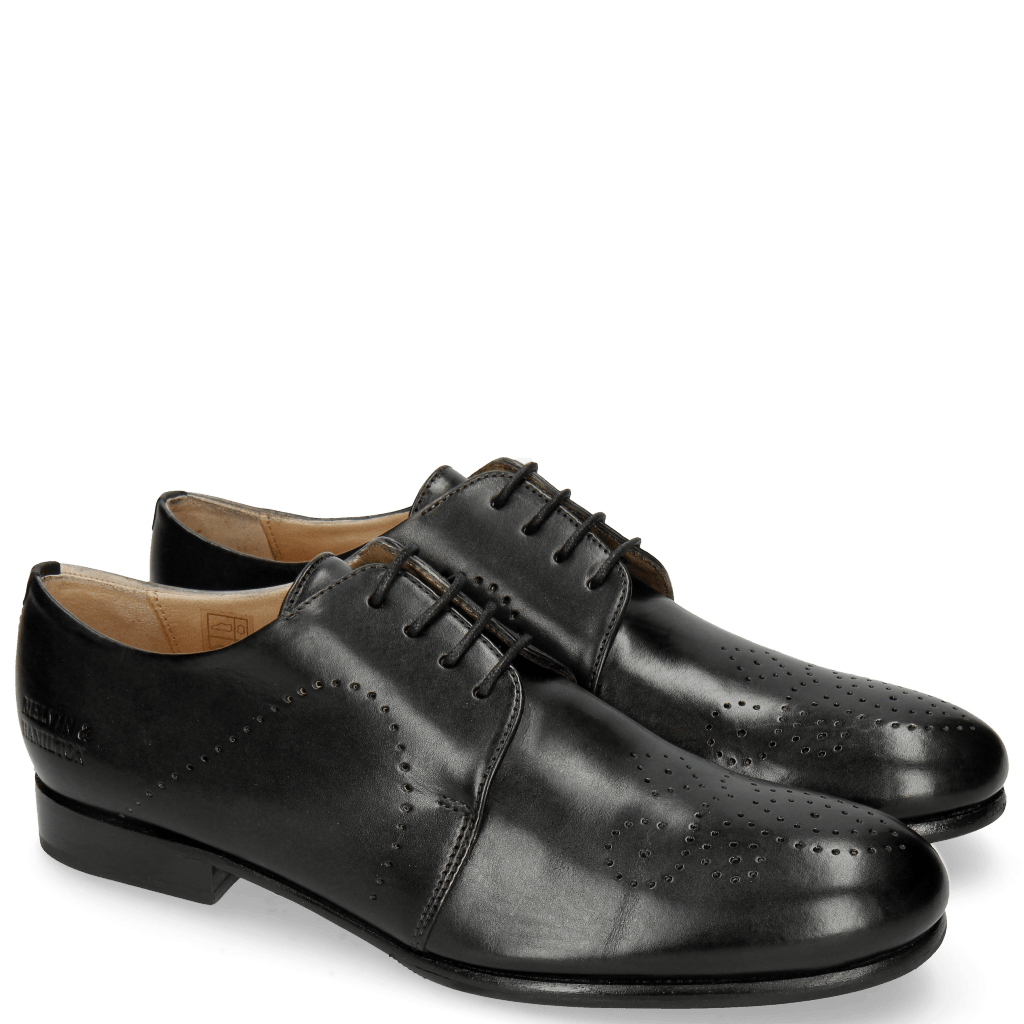 Derby Schuhe Sally 1 Black HRS