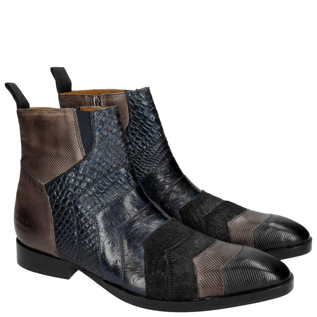 Stiefeletten Ricky 6 London Fog Stone Navy Night Blue