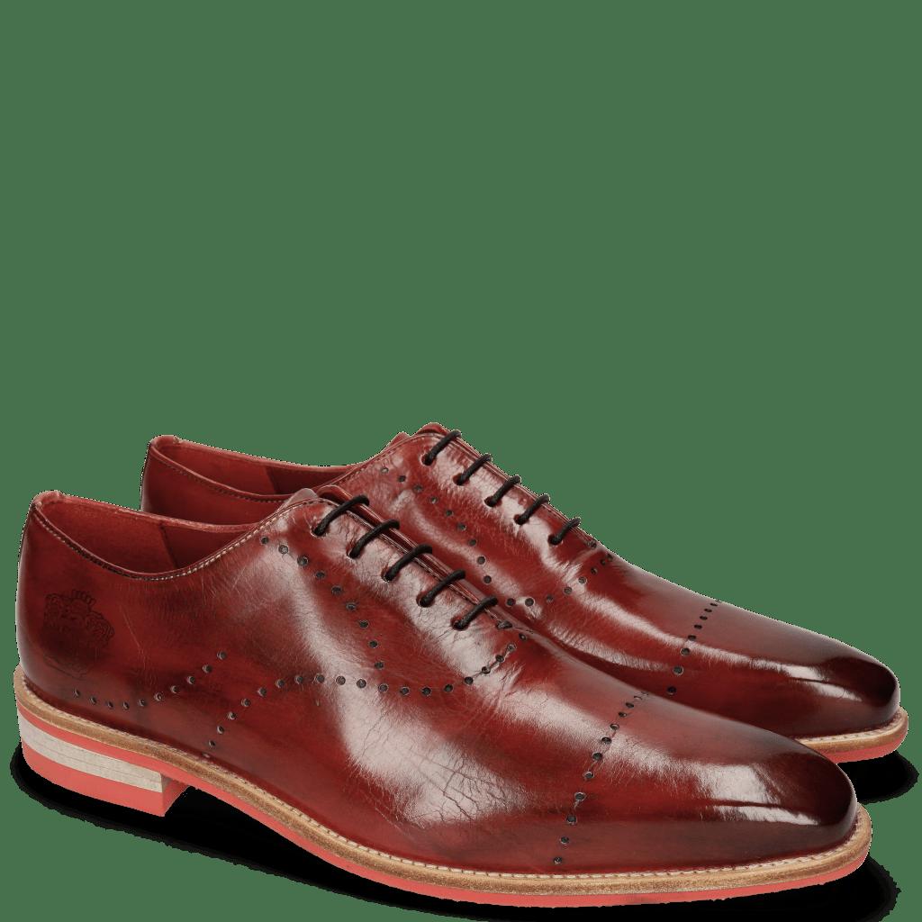 Oxford Schuhe Lance 40 Ruby Lasercut Crown